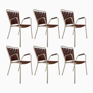 Chaises de Jardin Mid-Century, 1970s, Set de 6