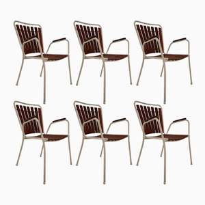 Mid-Century Garden Patio Chairs, 1970s, Set of 6