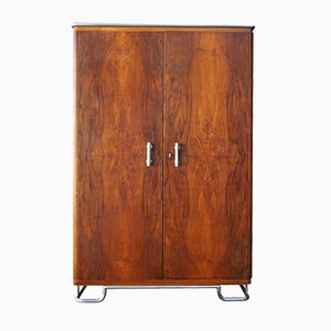 Bauhaus Wardrobe in Walnut Veneer by Hynek Gottwald, 1930s