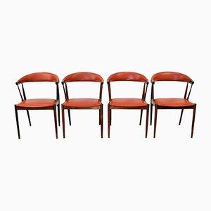 Vintage Esszimmerstühle aus Palisander von Johannes Andersen für Andersen Møbelfabrik, 4er Set