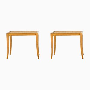 Rattan Stools by Frits Henningsen, 1940s, Set of 2