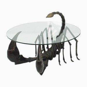 Tavolino da caffè Scorpion in bronzo, anni '70