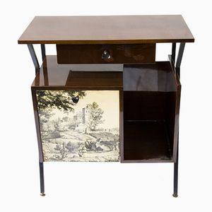 Mueble bar estilo Fornasetti brillante, años 50