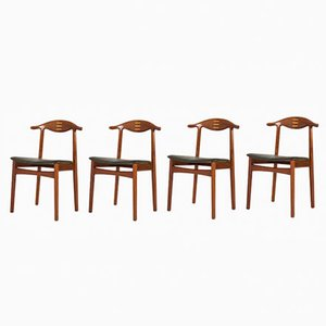 Esszimmerstühle aus Palisander von Knud Færch für Slagelse, 1950er, 4er Set