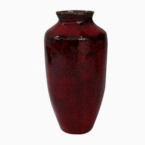 Red Glazed Ceramic Vase, 1970s