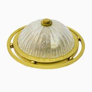 Handgefertigte Vintage Deckenlampe aus Glas