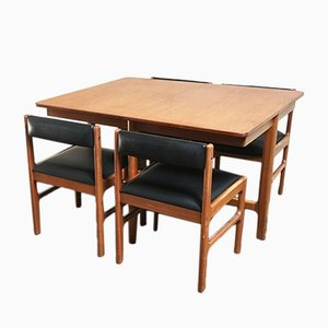 Extending Dining Table and Chairs from Mcintosh, 1970s