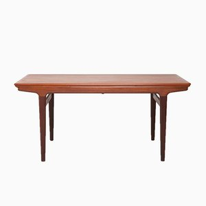 Tavolo da pranzo allungabile in teak di Johannes Andersen per Uldum, anni '60