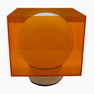 Orange Perspex Table Lamp from Atlas, 1970s