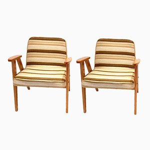 Model 366 Easy Chairs by Jozef Chierowski, 1960s, Set of 2