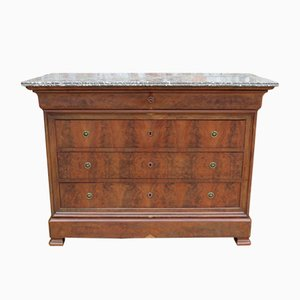 Antique Mahogany Chest Of Drawers with Marble Top