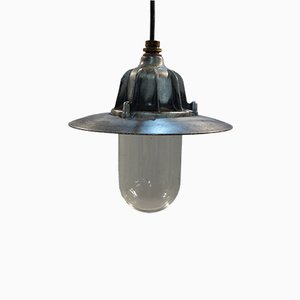 Brushed Aluminium Ceiling Dome Light by Coughtrie of Glasgow, 1955