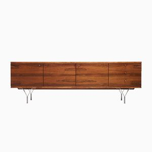 Minimalist Rio Palisander Sideboard with Y-Shaped Feet, 1960s