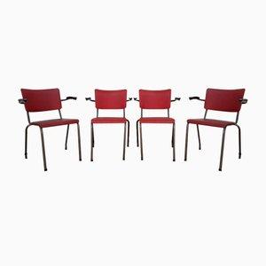Chaises de Bureau Industriel, Pays-bas, 1954, Set de 4