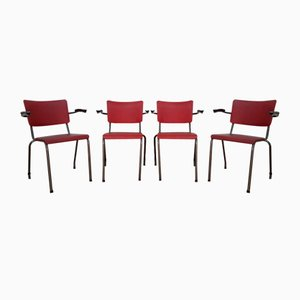 Dutch Industrial Office Chairs, 1954, Set of 4