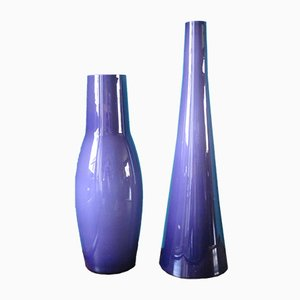Vases by Per Lutken for Kastrup Glass Holmegaard, 1960s, Set of 2