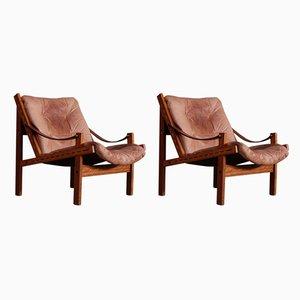 Hunter Safari Stühle von Torbjørn Afdal für Bruksbo, 1960er, 2er Set