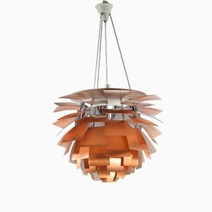 Large PH Artichoke Chandelier in Copper by Poul Henningsen for Louis Poulsen, 1985