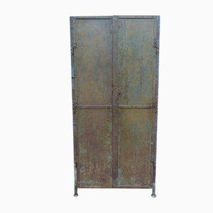 Vintage Steel Factory Cabinet