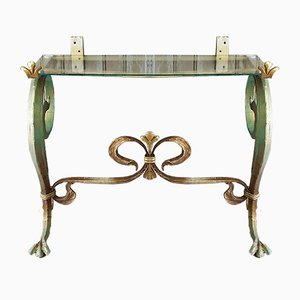 Vintage French Cast Iron Console Table