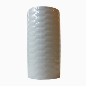 Danish Modern White Celadon Vase by Anni Jeppesen for Royal Copenhagen, 1970s