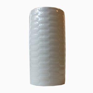 Vaso moderno in celadon bianco di Anni Jeppesen per Royal Copenhagen, Danimarca, anni '70