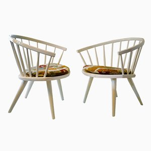 Model Arka Easy Chairs by Yngve Ekström for Stolab, 1950s, Set of 2