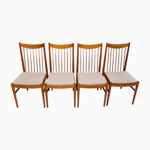 Danish Teak Dining Chairs by Arne Vodder for Sibast, 1960s, Set of 4