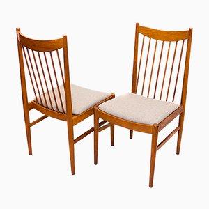 Dänische Esszimmerstühle aus Teak von Arne Vodder für Sibast, 1960er, 2er Set