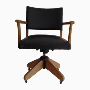 Black Office Swivel Chair from Verco, 1970s