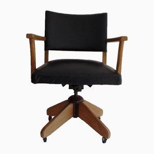 Chaise de Bureau Pivotante Noire de Verco, 1970s