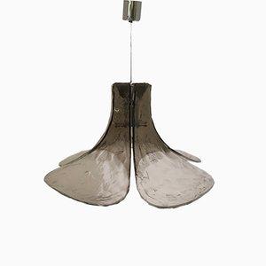 Lampe à Suspension à Pétales en Verre Murano de Mazzega, 1960s