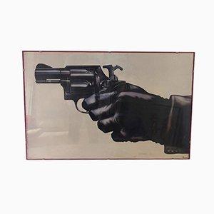 Druck mit Pistolenmotiv, 1970er