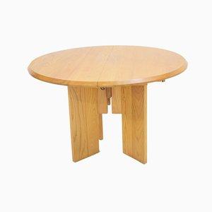 Vintage Esstisch aus Ulmenholz von Regain