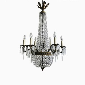 Vintage French Tent & Waterfall Chandelier