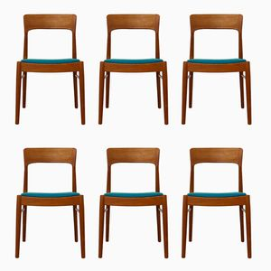 Mid-Century Modern Danish Teak Easy Chairs from K.S. Møbler, Set of 6