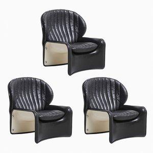 Lotus Chairs von Andre Vandenbeuck für Strässle, 1970er, 3er Set