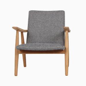 Vintage GE260 Sessel aus massiver Eiche & Wolle von Hans J. Wegner für Getama