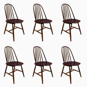 Schwedische Stühle von Haga Fors, 1950er, 6er Set