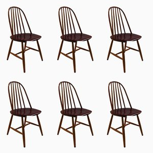 Swedish Chairs by Haga Fors, 1950s, Set of 6