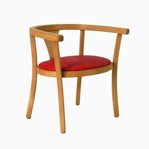 Sedia da bambino rossa di Baumann, anni '60