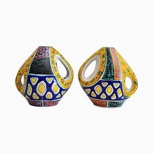 Jarrones italianos Mid-Century de cerámica de Valceresio, años 50. Juego de 2