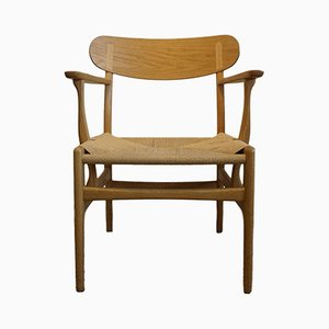 Mid-Century CH 22 Lounge Chair by Hans Wegner for Carl Hansen & Søn