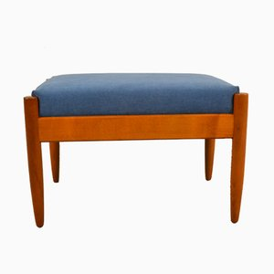 Danish Blue Footstool, 1960s