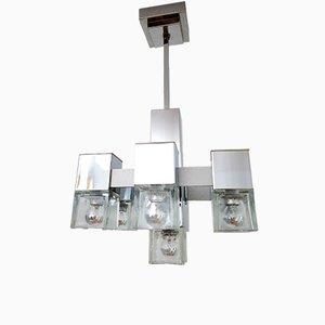 Lámpara de araña Mid-Century Modern de Gaetano Sciolari, años 60