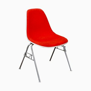 Red DSX Fiberglass Chairs by Charles & Ray Eames for Herman Miller, 1970s, Set of 2