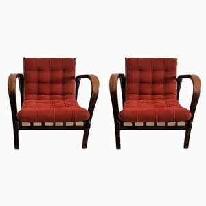 Vintage Lounge Chairs from Kozelka & Kropacek, Set of 2