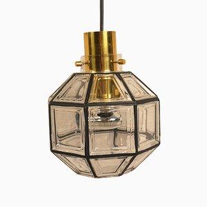 Deckenlampe aus Glas von Limburg, 1970er