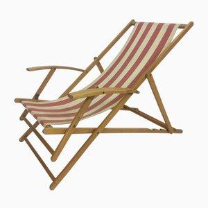 Mid-Century Foldable Beach Lounge Chair