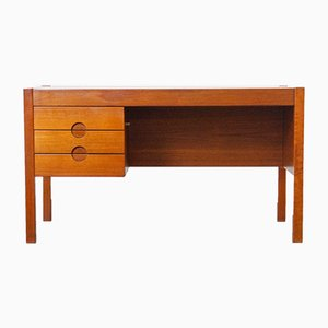 Mid-Century Danish Teak Desk by Christian Linneberg